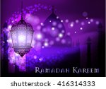 ramadan kareem greeting on... | Shutterstock .eps vector #416314333