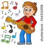 boy guitar player theme image 2 ... | Shutterstock .eps vector #416316508