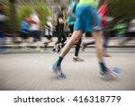 marathon runners  sport... | Shutterstock . vector #416318779