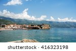 montenegro  budva  sea and town ... | Shutterstock . vector #416323198