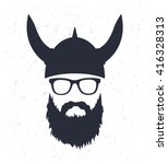Bearded Viking With Glasses An...