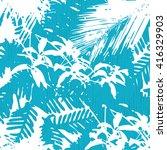 abstract botanical pattern... | Shutterstock .eps vector #416329903