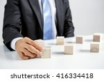 concept of business hierarchy... | Shutterstock . vector #416334418