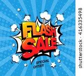 flash sale banner template... | Shutterstock .eps vector #416335498