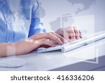 man surfing the internet  | Shutterstock . vector #416336206