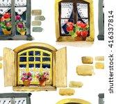 watercolor pattern of vintage... | Shutterstock . vector #416337814