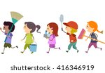 stickman illustration of kids... | Shutterstock .eps vector #416346919