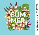 summer background with tropical ... | Shutterstock .eps vector #416353738