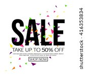 vector sale background  banner... | Shutterstock .eps vector #416353834
