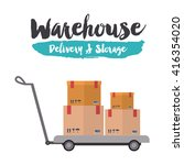 delivery and storage warehouse...   Shutterstock .eps vector #416354020