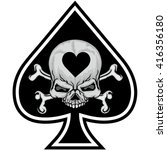 Ace Of Spades With Skull And...
