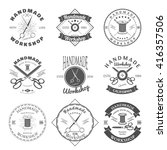 Handmade Workshop Logo Vintage...