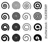 spiral elements for your design ... | Shutterstock .eps vector #416358589