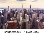 Chicago Downtown Cityscape With ...