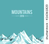 polygonal abstract snow capped... | Shutterstock .eps vector #416361820