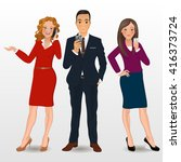 business vector people | Shutterstock .eps vector #416373724