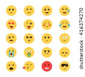 vector set emoticon.... | Shutterstock .eps vector #416374270