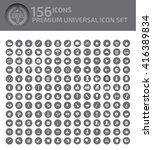 156 icons premium universal...   Shutterstock .eps vector #416389834