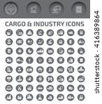 cargo and industry icon set ... | Shutterstock .eps vector #416389864