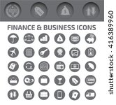 finance and business icon set ... | Shutterstock .eps vector #416389960