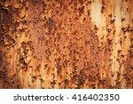 grunge rust texture background | Shutterstock . vector #416402350