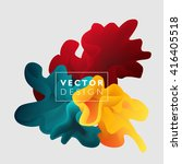 vector abstract color cloud. ... | Shutterstock .eps vector #416405518