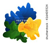 vector abstract color cloud. ... | Shutterstock .eps vector #416405524