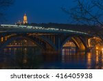 Постер, плакат: Kiev Illuminated Metro Bridge