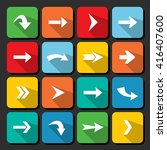 colorful arrow icon collection...