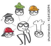 career choice options   stick... | Shutterstock .eps vector #416418094