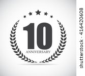 template logo 10 years... | Shutterstock .eps vector #416420608