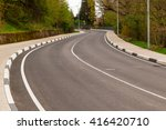 winding mountain road with...   Shutterstock . vector #416420710