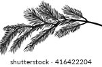 illustration with pine branch... | Shutterstock .eps vector #416422204