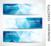 a set of modern vector banners... | Shutterstock .eps vector #416427976