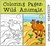 coloring pages  wild animals....   Shutterstock .eps vector #416433229
