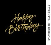 happy birthday lettering with... | Shutterstock .eps vector #416435119