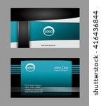 business cards  | Shutterstock .eps vector #416436844