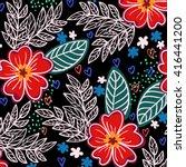 flower pattern | Shutterstock .eps vector #416441200