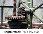 machinery parts for sluice... | Shutterstock . vector #416447410