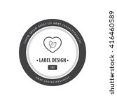 herbal heart label black | Shutterstock .eps vector #416460589