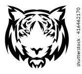 vector tiger's head as a design ... | Shutterstock .eps vector #416462170