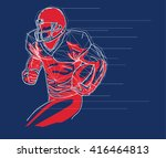 american football player logo ...