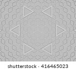 abstract architecture  3d... | Shutterstock . vector #416465023
