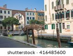 water canal in the jewish... | Shutterstock . vector #416485600