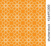 islamic pattern seamless... | Shutterstock .eps vector #416491300