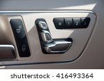 chrome door seat adjust button... | Shutterstock . vector #416493364