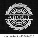 about chalk emblem written on a ...