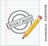 Offer Credit Drawn In Pencil