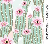 Cactus With Pink Flowers On The ...