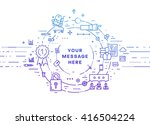 circle frame with place for... | Shutterstock .eps vector #416504224